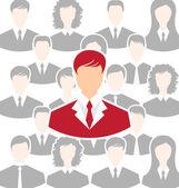 Concept of leadership, community business people — Vector de stock