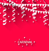 Holiday background with hanging pennants for carnival party in t — Stock Vector