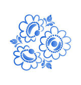 Beautiful flowers pattern isolated on white background — Stockvector