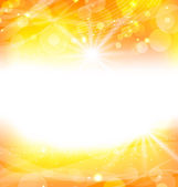 Abstract orange background with sun light rays — Stock Vector