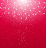 Abstract pink  illuminated background with shiny stars  — Stock Vector