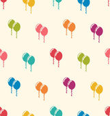 Seamless Pattern Multicolored Balloons for Happy Birthday — Stock Vector
