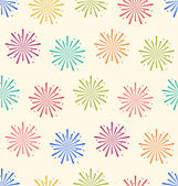 Seamless Pattern Colorful Firework for Holiday Celebration Event — Stock Vector