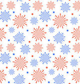 Seamless Pattern firework for Independence Day of USA, Wallpaper — Stock Vector
