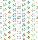 Seamless Pattern of Atomic Symbols for Science — Stock Vector