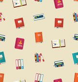 Seamless Pattern of Colorful TextBooks — Stock vektor