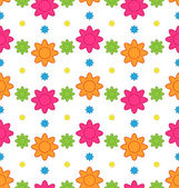 Seamless Floral Pattern with Colorful Flowers, Beautiful Pattern — Stock Vector