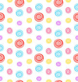 Seamless Pattern with Colored Lollipops — Stock Vector