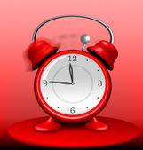 Red Alarm Clock Ringing Wildly — Stock Vector