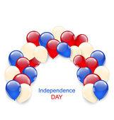 Amerikan bağımsızlık günü dekorasyon — Stok Vektör