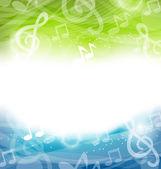 Fundo com elementos musicais — Vetor de Stock