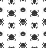 Seamless Pattern with Simple Spiders — Stock Vector