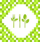 Symbol of Vegetarian Food — Stock Vector