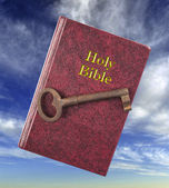 Holy Bible and Key. — Stock Photo