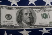 Hundred Dollar Bill. — Stock Photo