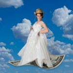 Flying on Money. — Stock Photo #65484561