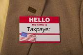 My Name is Taxpayer. — Foto de Stock