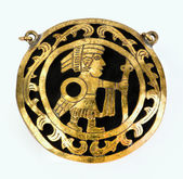 Pre Columbian Medallion. — Stock Photo