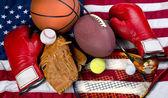 Американские виды спорта. — Стоковое фото