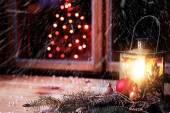 Snowy Christmas Time — Stock Photo