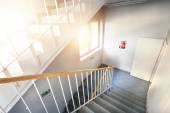 Emergency exit and stairs — Stock Photo