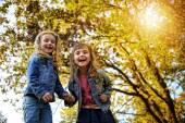 Joyful friends having fun in the fresh air — Stock Photo