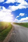 Color scenic road into the unknown — Stock Photo