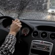 Bad weather conditions on the road — Stock Photo #62762543