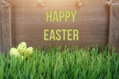 Easter card with quail eggs — Stock Photo