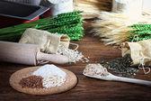 Baking homemade bread — Stock Photo