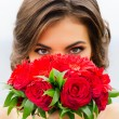 Bride with bouquet of flowers — Stock Photo #56920919