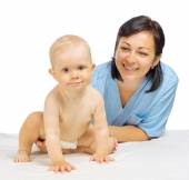 Little baby with doctor — Stock Photo