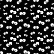 Halloween pattern with eyes over black background — Stock Photo #52402721