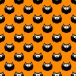 Halloween pattern with black owls and orange background — Stock Photo #52402855