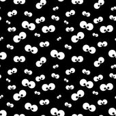 Halloween  pattern with eyes over black background — Stock Photo