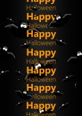 Halloween greetings card with flying bats — Stock Photo