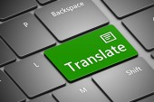 Computer keyboard with translate button — Stock Photo