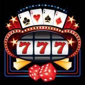 Casino machine — Stock Vector