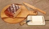 Świeży chleb i masło — Zdjęcie stockowe