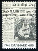 Liberation of Denmark on front page of newspaper — Stock Photo