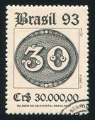 1st Brazilian Postage Stamps — Stok fotoğraf