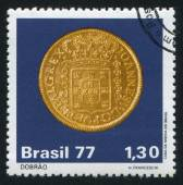 Brazilian Colonial Coins Doubloon — Stock Photo