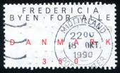 Dánsko razítko — Stock fotografie