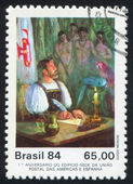 First Letter Mailed in Brazil by Guido Mondin — Stock Photo
