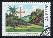 Churchyard Cross Porto Seguro — Stock Photo
