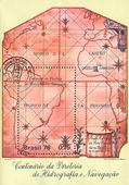 Nautical Map of South Atlantic — 图库照片