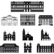 Vector illustration old architecture — Stock Vector #70834427