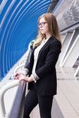 Intelligent business woman is waiting for the client — Stock Photo