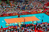WARSAW, POLAND - AUGUST 30 : Men's World Championship, opening ceremony, Warsaw, 30 August 2014 — Stock Photo
