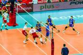 Warschau, polen - august 30: volleyball-weltmeisterschaft öffnen spiel polen-serbien, warschau, 30 august 2014 — Stockfoto